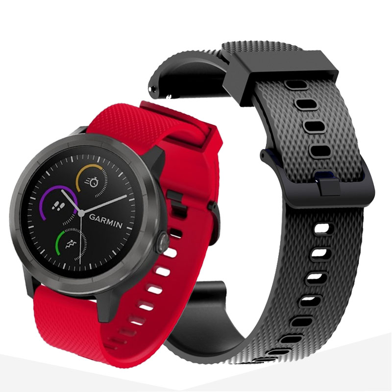20mm Watch Strap For Garmin Venu Band Galaxy Watch Active 2 42mm Silicone Wrist Bracelet Huawei Watch Gt 2 Vivomove HR Active2