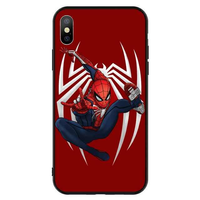 Marvel Avengers captain ironman thanos deadpool case for iphone 6 6s 7 8 plus X XS MAX XR 5 5s se case Black hard pc phone cover