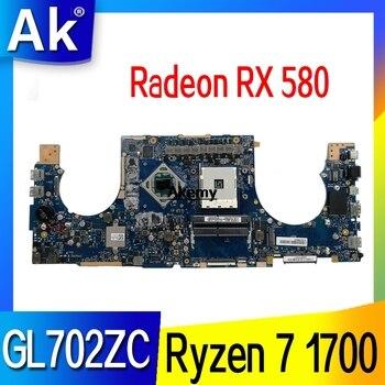 GL702ZC Motherboard Ryzen 7 1700U  Radeon RX 580 For ROG ASUS S7ZC GL702ZC Laptop motherboard GL702ZC Mainboard