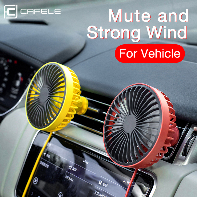 CAFELE Clip style Car Air Cooling Fan 5.5 Inch Car Fan USB Regulate 12V24V Universal Large Wind Three Speed mini Summer Fan