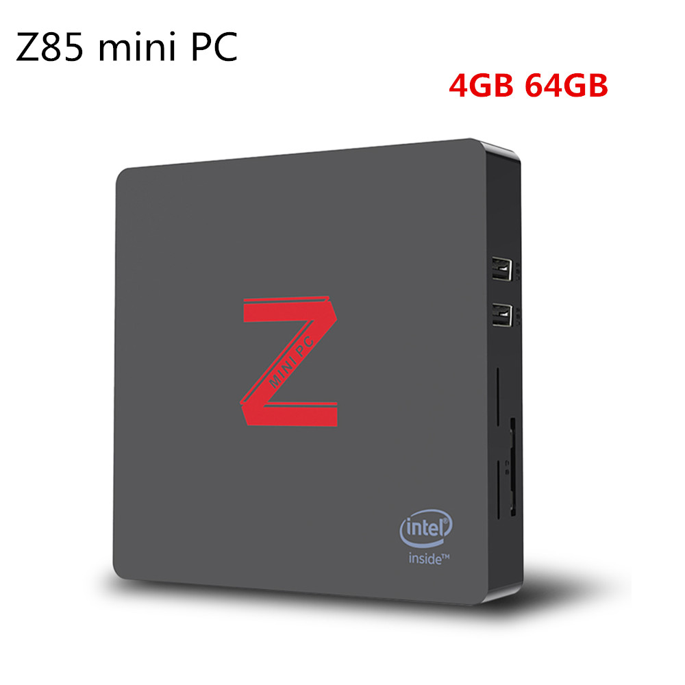 Z85 Mini PC Intel Atom X5 - Z8350 4GB 64GB Bluetooth 4.0 TV Box 1000Mbps Mini PC With Dual-screen Display Function