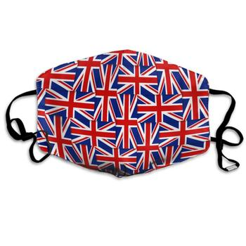 цена на AGRBLUEN Unisex Breathable Reusable British Pattern Composed from National Flags of The United Kingdom Mouth Mask, Adjustable