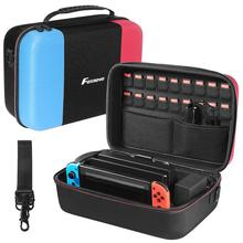 Foxnovo Portable Convenient Carrying Bag Game Console Case Storage Box Protective for Nintendo Switch Outside Home Travel
