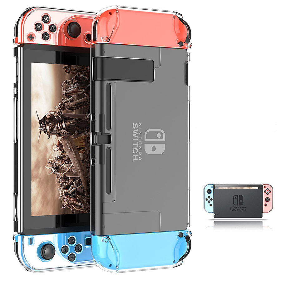 Nintendo Switch Crystal Case Transparent Protective Shell NS Protective Case Split Type Nintendo Origional Product Fixed Charger