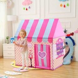 Детские игрушки для двора, палатки, Детская игровая палатка для мальчиков и девочек, Замок принцессы, крытый, открытый, детский домик, игрово...
