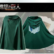 Anime Attack on Titan Cloak Cape Clothes Cosplay Costume Halloween Costumes for Men Adult(China)