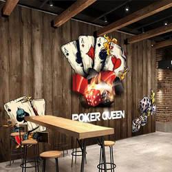 Dezhou City играющая карточная игра магазин украшения Фреска маджонг Шахматная комната обои повседневные развлекательные места фон W