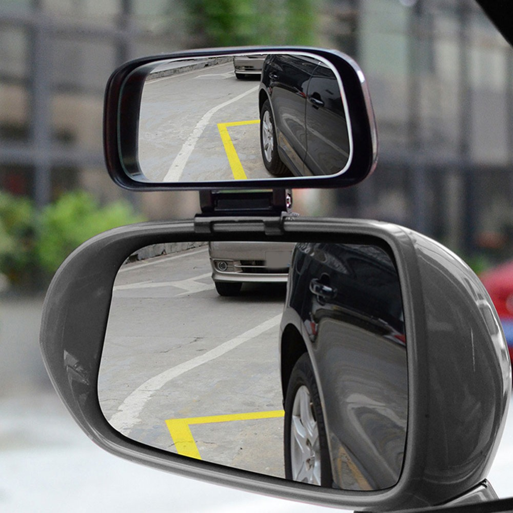 Rotation Adjustable Rearview Mirror Wide Angle Lens Car Blind Spot Mirror 2