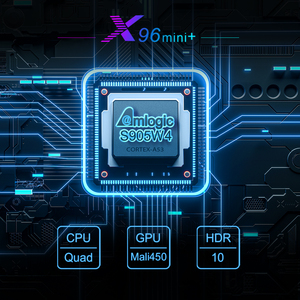 Image 2 - 2021 X96 Mini Plus TV Box Android 9.0 Amlogic S905W4 Quad Core A53 Dual Wifi H.265 4K 30fps supporto Google Voice Youtube X96Mini