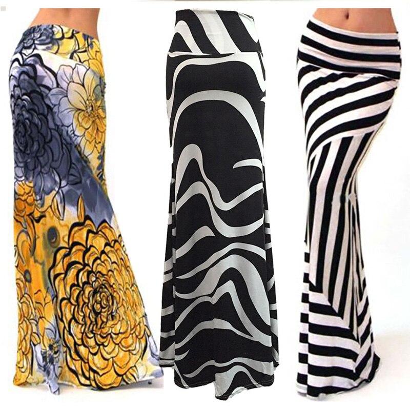 Bnwige Autumn Casual Geometric Drawstring Slim Fishtail Skirt Bag Hip Floral Skirt Women Large Size High Waist Skirt Maxi Skirt