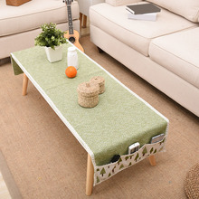 Cotton Linen Woven Storage Tablecloth Multi-function Coffee Table Cover Dining Cloth for Home Decoration 60*150cm