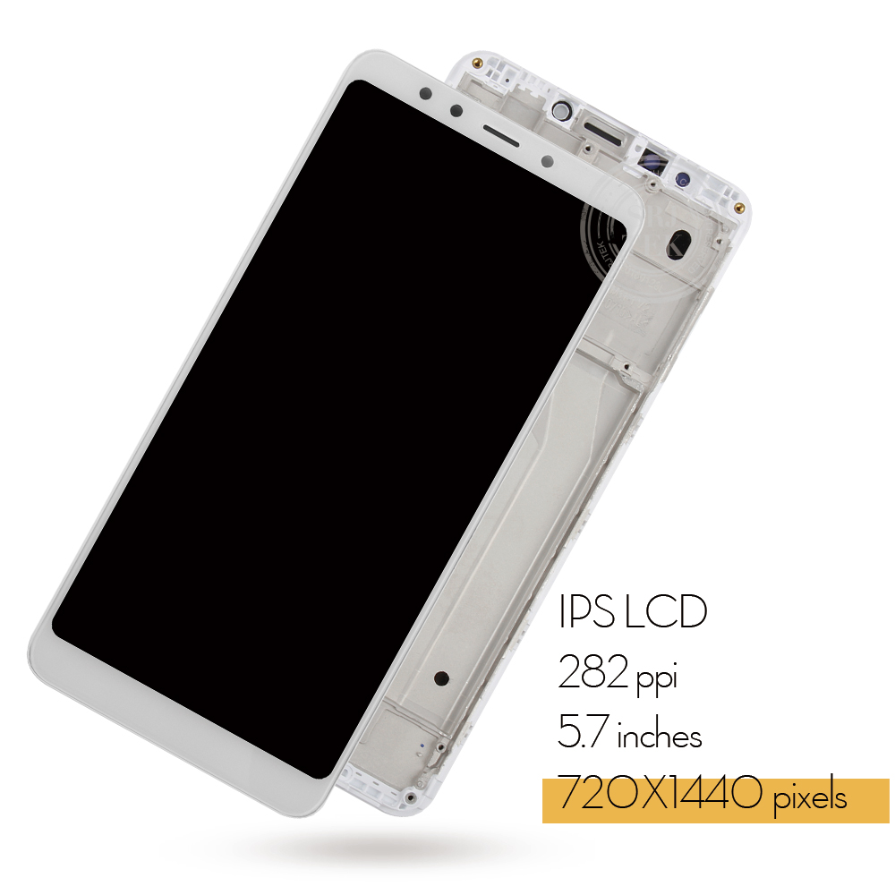 """Image 3 - Original 5.7"""" for Xiaomi Redmi 5 LCD Display Touch Screen with Frame Digitizer Assembly for Xiaomi Redmi 5 Display Replace PartsMobile Phone LCD Screens   -"""