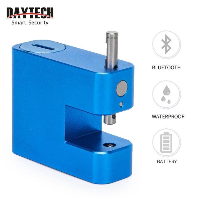 Daytech スマート指紋南京錠ドアロックセキュリティロッカー usb 充電式 IP65 防水荷物ケースロックアンチ泥棒
