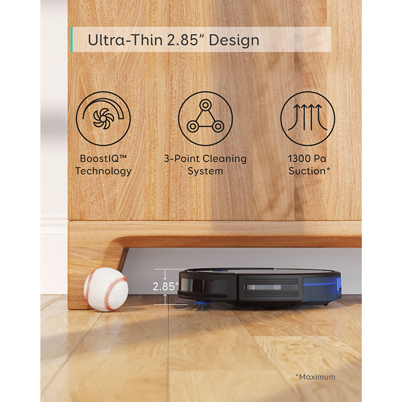 eufy [BoostIQ] RoboVac 15C, Wi-Fi, Super-Thin, 1300Pa Strong Suction Quiet, Self-Charging Robotic Vacuum Cleaner 4