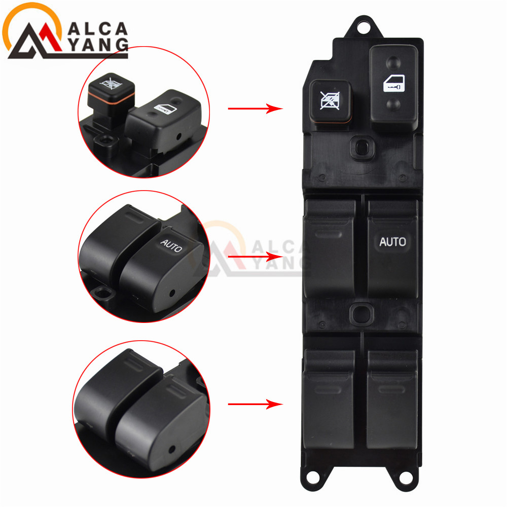 Malcayang 14 pinos Mestre Main Power Window Switch 84820-22310 para Toyota Landcruiser 80 Series 1990-1998