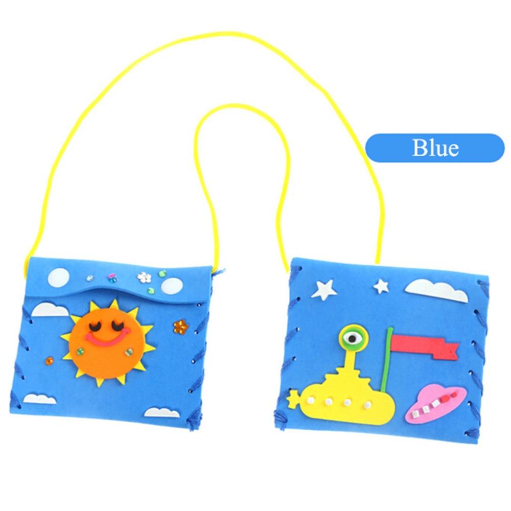 Children DIY Handmade Material Package Kindergarten Parent-Child Arts Handicraft Toys Free Cutting Glue Baby Hand Sewing Toys