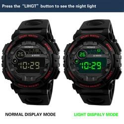Men's Sport Watch Led Multifunction Alarm Clock Waterproof Led Luminous Electronic Week Display Auto Date Stopwatch