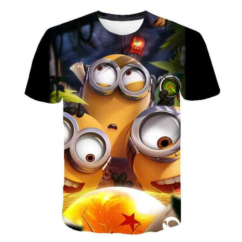 Camiseta с рисунком, Мультяшные для детей и девочек, camiseta amarilla с круглым вырезом для летнего сезона, 2020