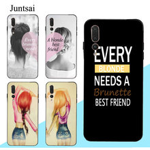 Juntsai Every Brunette Needs a Blonde Best Friend Case For Huawei P30 Pro P10 P20 Lite Mate 20 10 Lite Honor 20 8X Nova 3I Y9 Y7(China)