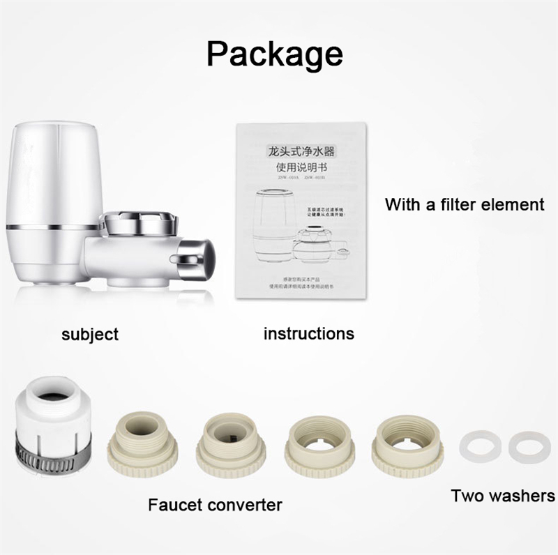 Купить с кэшбэком Kitchen Faucet Attach Filter 7 layers purification Ceramic filter Water tap purifier Cartridges Rust Bacteria Removal Percolator