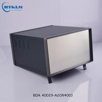 DIY junction box Iron project box aluminium enclosure electrical box big metal case power supply instrumen box 430*400*260mm