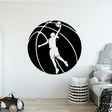 Free shipping basketball Wall Stickers Modern Fashion Sticker For Kitchen Restaurant Decoration Accessories LW415
