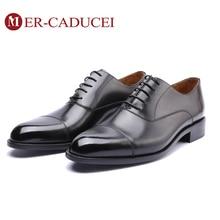 Zapatos de vestir de hombre de cuero genuino Vintage Retro personalizado hecho a mano Oficina moda Formal boda fiesta Oxford zapatos