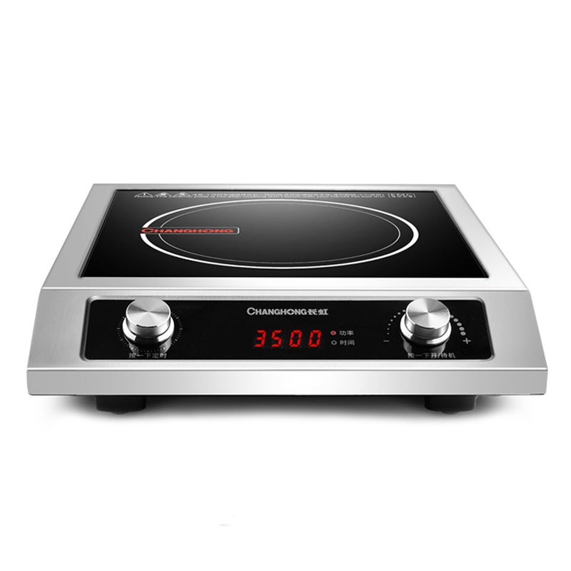3500w Induction Cooker Commercial High Power Induction Cooktop Cooker Restaurant Household Waterproof Black Microlite Panel 220V