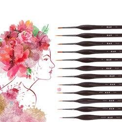 Malowanie nylon włosów hak linii obraz olejny pędzle do akwareli szczotki profesjonalne dostaw sztuki pędzle do akwareli|Pędzle do malowania według wzoru|Dom i ogród -