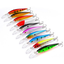 1PCS NEW Color 11cm 10.5g Hard Bait Minnow Streak Fishing Lures Bass Fresh Water Hook Diving Perch Wobbler bait
