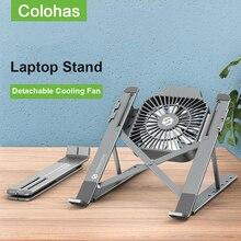 Laptop-Stand Notebook-Support-Holder Riser-Cooler Cooling-Fan Macbook Pro Folding Adjustable