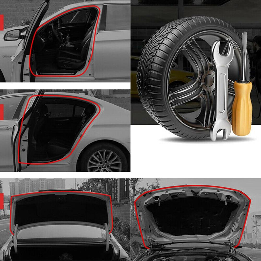 5M L Shape Car Door Hood Trunk Trim Edge Moulding Rubber Anti-Scratch Seal Strip