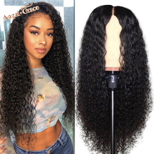 Angel Grace 13x6 Curly Lace Front Human Hair Wig Brazilian Kinky Curly Wigs Glueless Lace Closure Human Hair Wigs Pre Plucked
