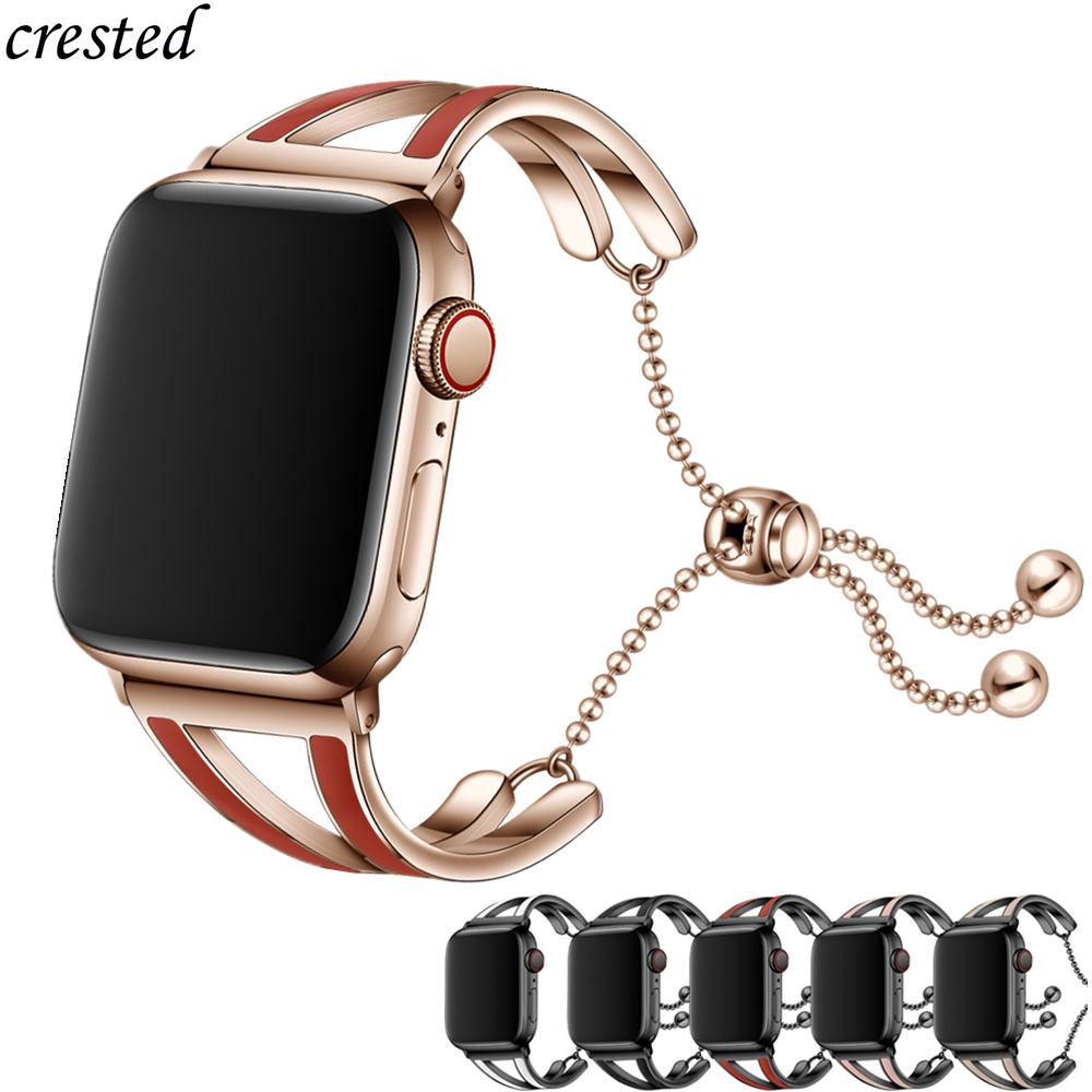 Women Strap For Apple Watch Band 38mm 42mm IWatch 5 Band 44mm 40mm Stainless Steel Bracelet Apple Watch 3 4 2 1 42/44 38/40 Mm