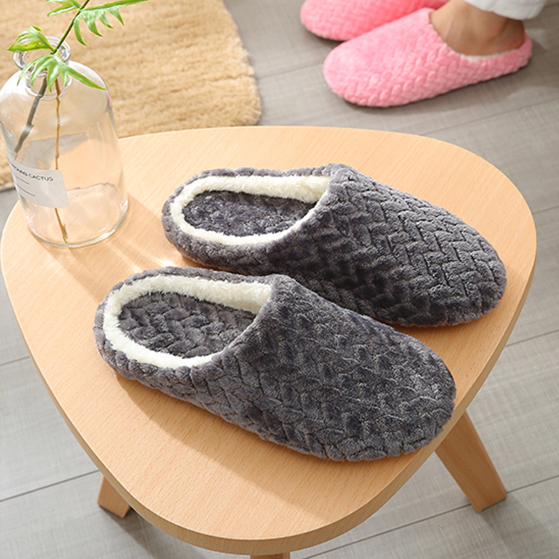 Cute Plush Non-slip Bedroom Snow Shoes Women Winter Warm Home Slippers Soft Comfortable Indoor Floor Shoes Slides for Women