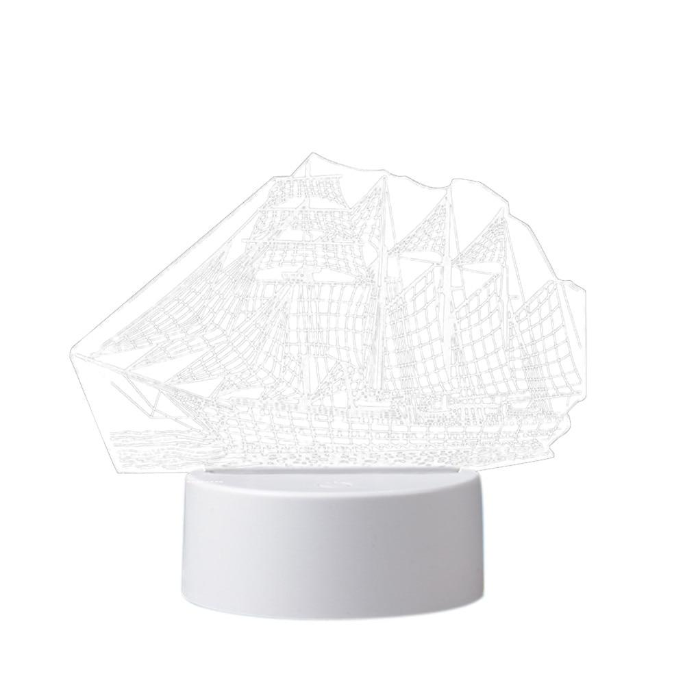 Image 5 - 3D USB Acrylic Night Lights Desktop Baubles LED Light Lamps Table Desk Globe Bedroom Office Decor Gift Warm White Lamp Ornament-in LED Night Lights from Lights & Lighting