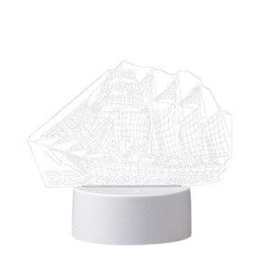 Image 5 - 3D USB Acrylic Night Lights Desktop Baubles LED Light Lamps Table Desk Globe Bedroom Office Decor Gift Warm White Lamp Ornament