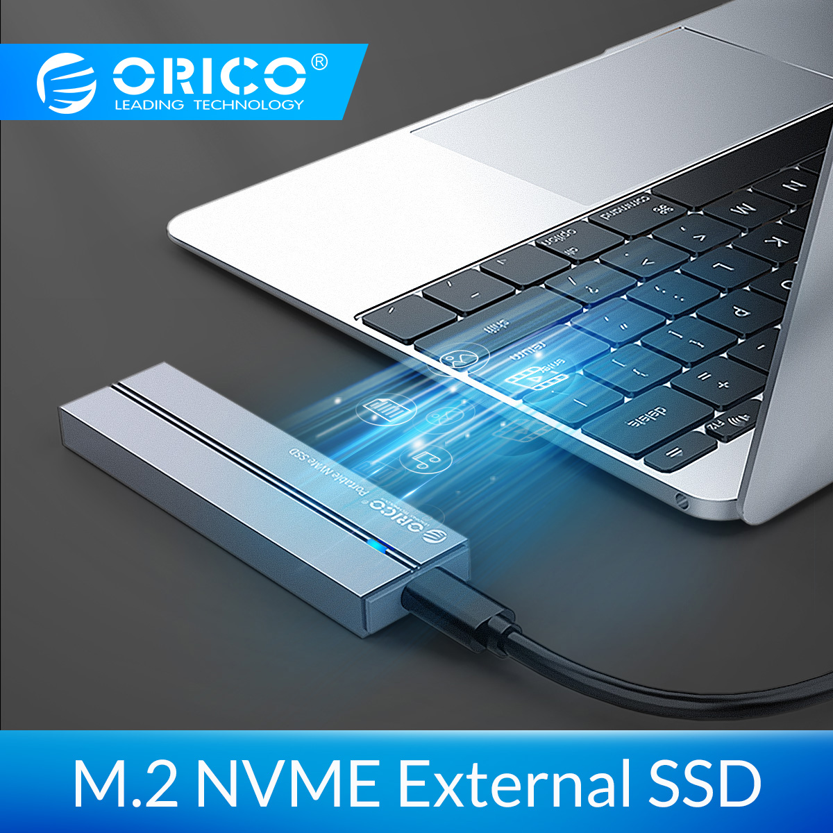 ORICO External SSD Hard Drive 1TB 128GB 256GB 512GB SATA MSATA NVME Portable SSD External Solid State Drive With Type C USB 3.1
