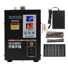 Podwójny wyświetlacz cyfrowy bateria maszyna do zgrzewania punktowego SUNKKO 737G bateria litowa spawarka podwójna fala impulsowa o wysokiej energii