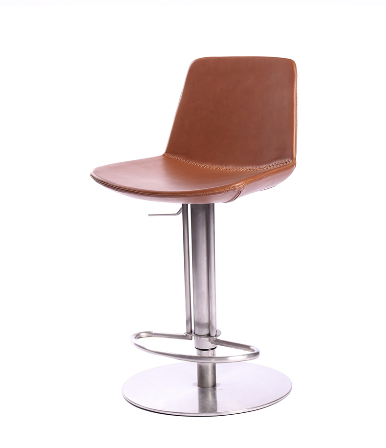 Lift Bar Chair Back Stainless Steel Revolving Bar Chair Dining Room Chair High Stool Dining Chair Simple Modern High Stool