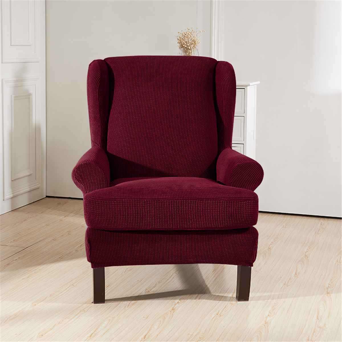 وينجباك المنحدرة الذراع الملك غطاء مقعد الظهر مرونة كرسي الجناح أريكة غطاء مقعد الخلفي تمتد حامي زلة غطاء حامي
