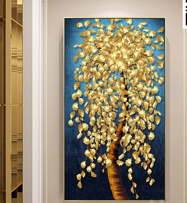 new arrive Golden tree landscape diamond embroidery Large rich tree 3d Picture of rhinestone diy mosaic diamant painting money-1