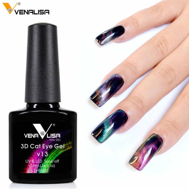 Produk Baru Venalisa 3d Cat Eyes Nail Art Penutup Penuh Bage UV LED Nail Art Gel Nail Polish Lacquer Kuku desain Cat Gel Kit
