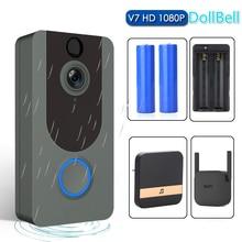 Doorbell-Camera Ip-Door Smart Eken V7 Chime Visual-Intercom Video Wifi 1080P Wireless