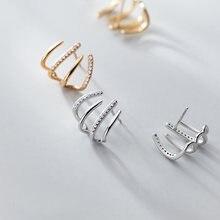 Серьги гвоздики из настоящего стерлингового серебра 925 пробы