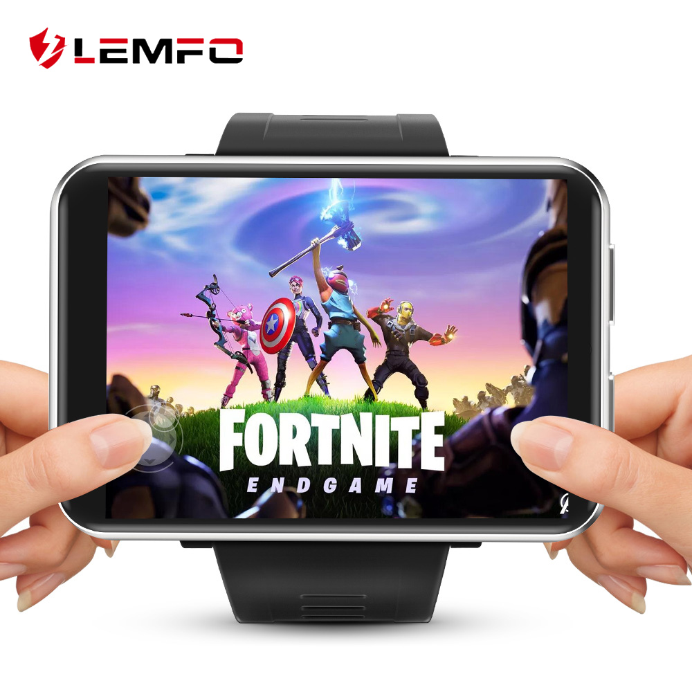 LEMFO LEM T 4G 2.86 Inch Screen Smart Watch Android 7.1 3GB 32GB 5MP Camera 480*640 Resolution 2700mah Battery Smartwatch Men-in Smart Watches from Consumer Electronics