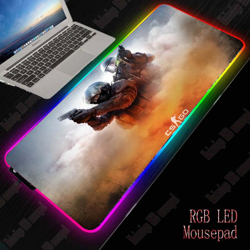 Mairuige Gaming Mouse Pad RGB Large Gamer Computer Backlight Mousepad With USB For Desk Keyboard LED Mice Mat For CSGO Gamer 1
