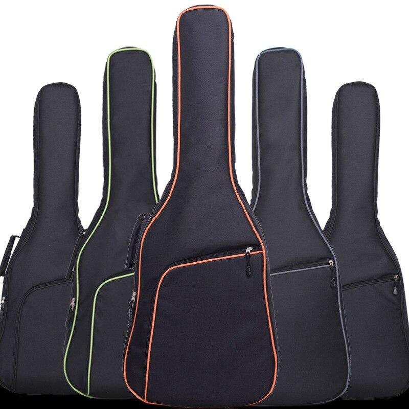 Nueva funda de guitarra eléctrica de tela Oxford con bordes coloridos, bolsa con correas dobles, mochila de algodón de 8mm