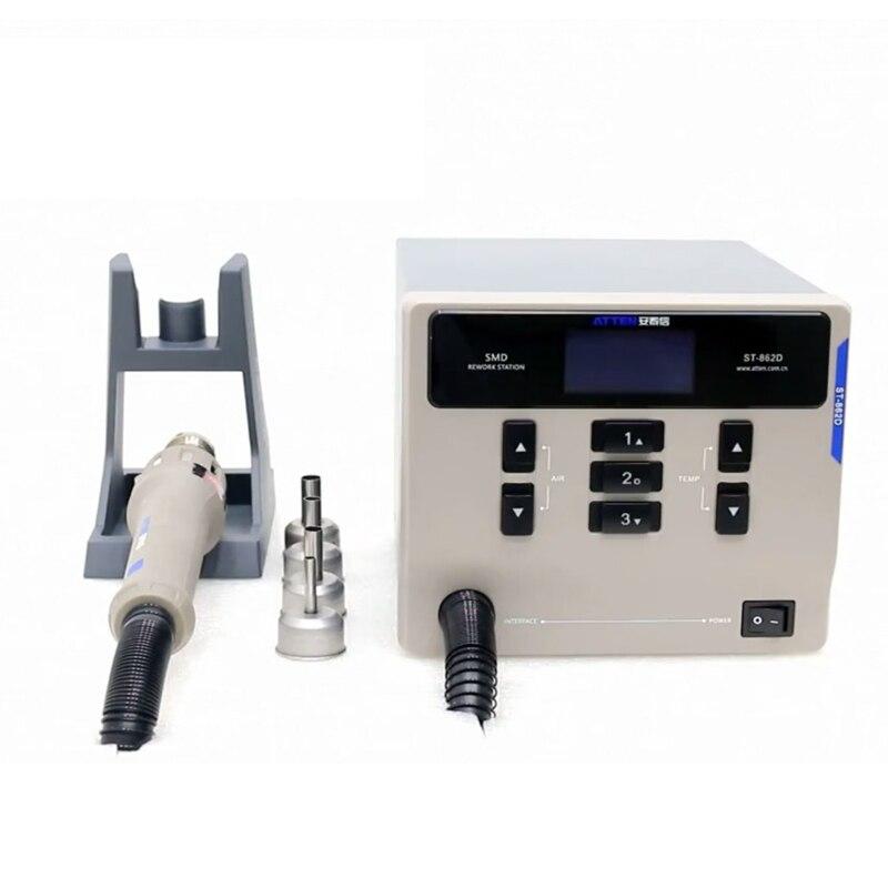 Tools : ATTEN St-862D 1000W Hot Air Gun BGA Rework Station Lead-free Digital Display Soldering Station Phone PCB Chip Soldering Repair