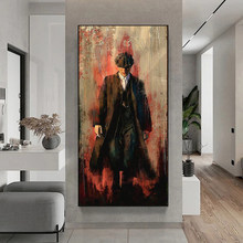 Abstract graffiti art canvas painting Thomas Shelby portrait performance posters and prints wall art print canvas home decor